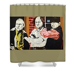 The Three Stooges Shower Curtain by Thomas Blood