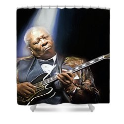 The Thrill Is Gone Shower Curtain by Peter Chilelli