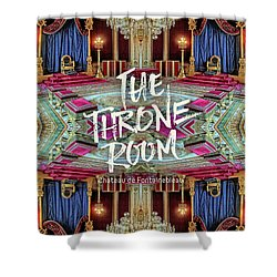 The Throne Room Fontainebleau Chateau Gorgeous Royal Interior Shower Curtain