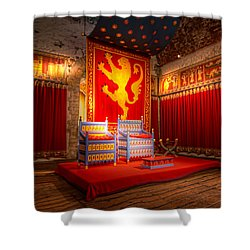 The Throne Room Of Dover Castle Shower Curtain