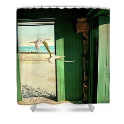 Shower Curtain featuring the photograph The Thruway by Diana Angstadt