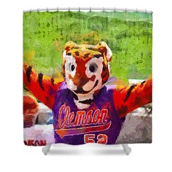 The Tiger Shower Curtain by Lynne Jenkins