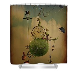 The Time Chasers Shower Curtain