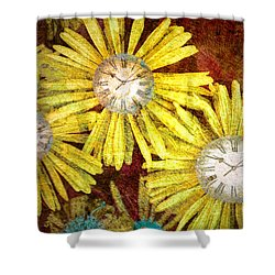 The Time Flowers Shower Curtain by Tara Turner