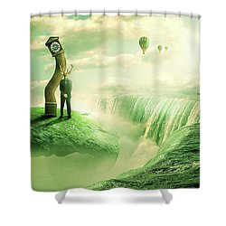 Shower Curtain featuring the digital art The Time Keeper by Nathan Wright