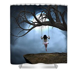 Shower Curtain featuring the mixed media The Time Of My Life by Marvin Blaine