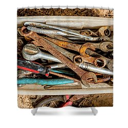 Shower Curtain featuring the photograph The Toolbox by Christopher Holmes