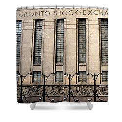 The Toronto Stock Exchange Shower Curtain