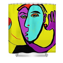 The Toss Shower Curtain by Hans Magden