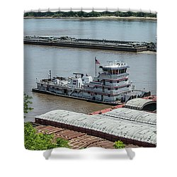 The Towboat Buckeye State Shower Curtain by Garry McMichael