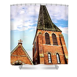 The Tower Shower Curtain by Onyonet  Photo Studios