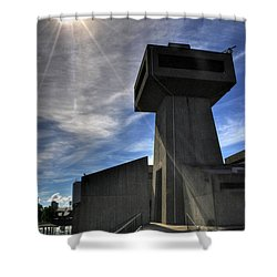 The Tower V2 Shower Curtain by Michael Frank Jr