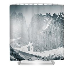 The Towers Shower Curtain by Andrew Matwijec