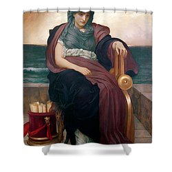 The Tragic Poetess Shower Curtain by Frederic Leighton