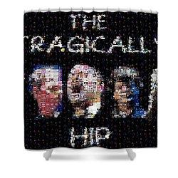 The Tragically Hip Mosaic Shower Curtain by Paul Van Scott
