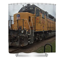The Train At The Ymca Shower Curtain