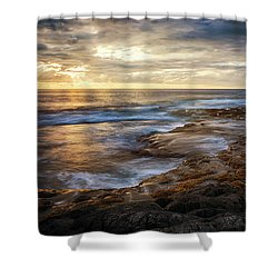 Shower Curtain featuring the photograph The Tranquil Seas by Susan Rissi Tregoning