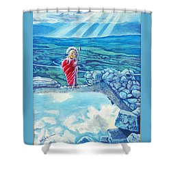 The Transcending Spartan Soldier Shower Curtain