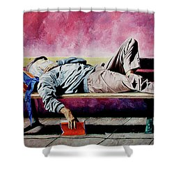 The Traveler 1 - El Viajero 1 Shower Curtain