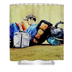 The Traveler 2 - El Viajero 2 Shower Curtain