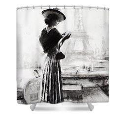 Shower Curtain featuring the painting The Traveler by Steve Henderson