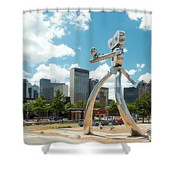 The Traveling Man Dallas 080618 Shower Curtain