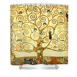 The Tree Of Life Shower Curtain by Gustav Klimt