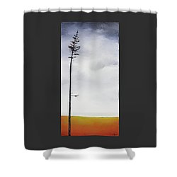 The Trees Are So Tall Here  II     Shower Curtain by Carolyn Doe