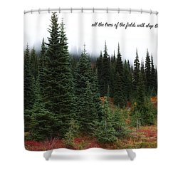 Shower Curtain featuring the photograph The Trees by Lynn Hopwood