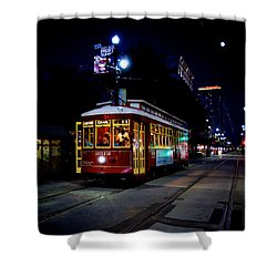 Shower Curtain featuring the photograph The Trolley by Evgeny Vasenev
