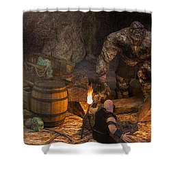 The Trolls Of Black Water Deep Shower Curtain