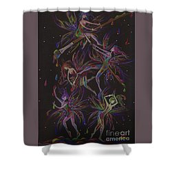 The Trouble With Paint Shower Curtain by Dawn Fairies