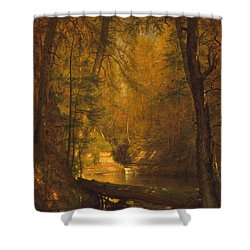 Shower Curtain featuring the photograph The Trout Pool by John Stephens