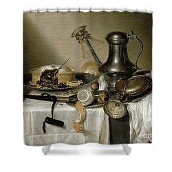 The Truffle Pie Shower Curtain by Maerten Boelema de Stomme