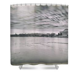 Shower Curtain featuring the photograph The Trump State by Edward Kreis
