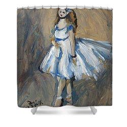 The Truth Lies Between Aguste Renoir And Marlene Dumas Shower Curtain by Nop Briex
