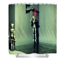 The Truthsayer Meets Denial Shower Curtain