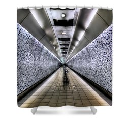The Tube Shower Curtain by Evelina Kremsdorf
