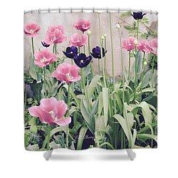 The Tulip Garden Shower Curtain by Jeannie Rhode