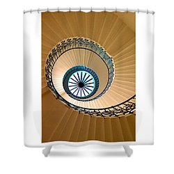 Shower Curtain featuring the digital art The Tulip Staircase by Julian Perry