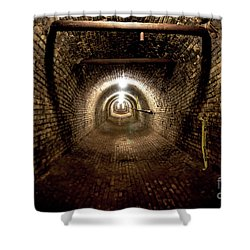 Shower Curtain featuring the photograph The Tunnel by Randall Cogle