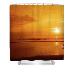The Turning Tide Shower Curtain