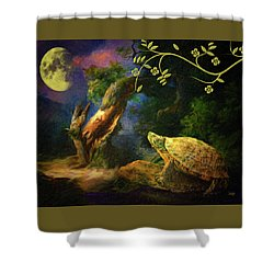 The Turtle Of The Moon Shower Curtain