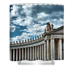 Shower Curtain featuring the photograph The Tuscan Colonnades In The City Of Rome by Eduardo Jose Accorinti
