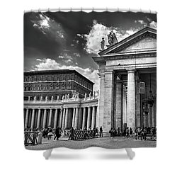 The Tuscan Colonnades In The Vatican Shower Curtain