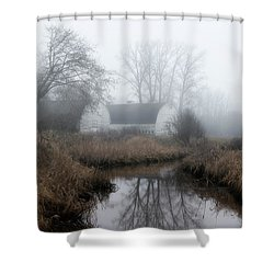 The Twin Barns Of Nisqually Shower Curtain