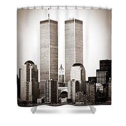The Twin Towers Shower Curtain