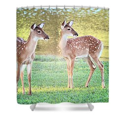 The Twins Shower Curtain by Geraldine DeBoer