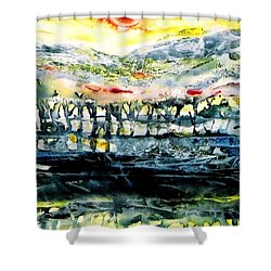 The Twisted Reach Of Crazy Sorrow Shower Curtain by Trudi Doyle