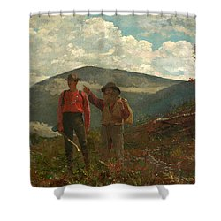 Shower Curtain featuring the painting The Two Guides by Winslow Homer
